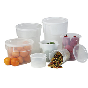Round Polyprop Containers